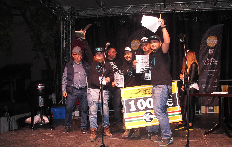 Magyar csapat győzött a tállyai BBQ-versenyen