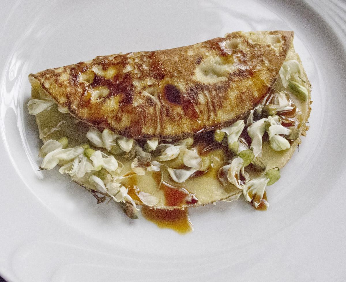 Akácvirágos omlett